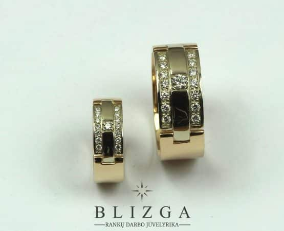 Vestuviniai žiedai Aurora duo