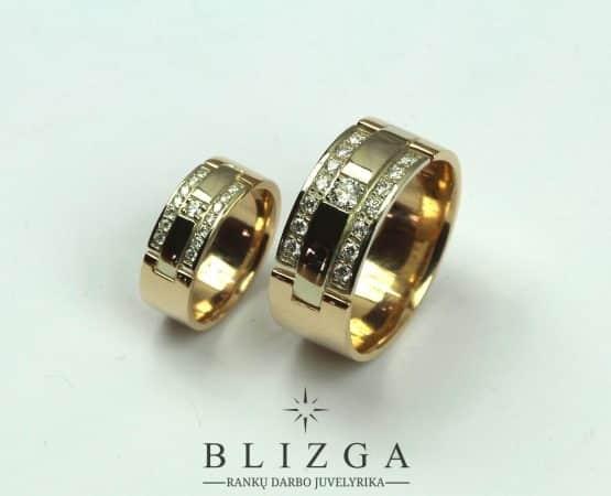 Vestuviniai žiedai Aurora tri