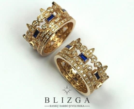 Vestuviniai žiedai corona tri