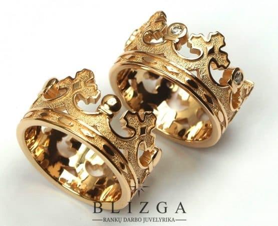 Vestuviniai žiedai Corona fiv