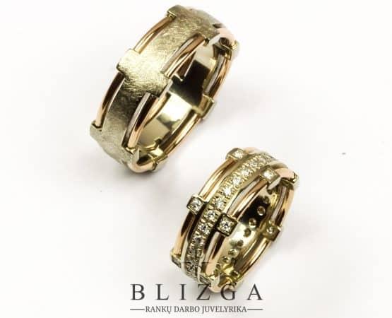 Iucundus išskirtinio stiliaus,vestuviniai žiedai qua