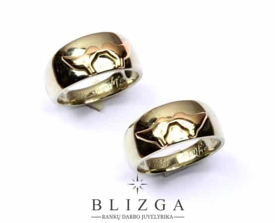Initio vestuviniai žiedai