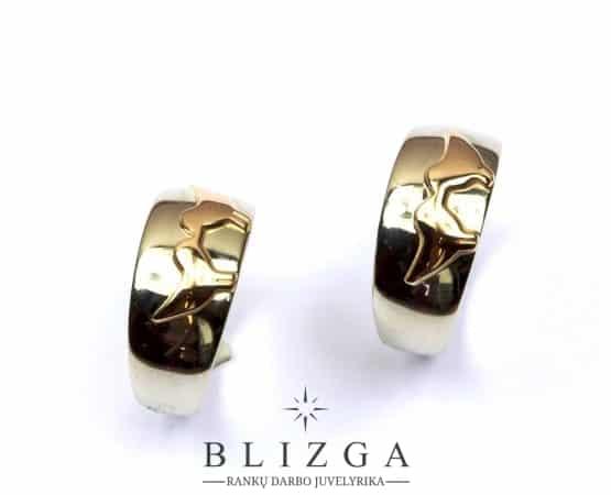 Initio vestuviniai žiedai duo