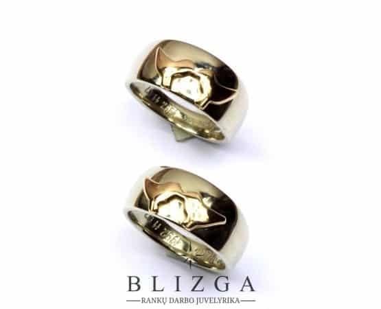 Initio vestuviniai žiedai tri