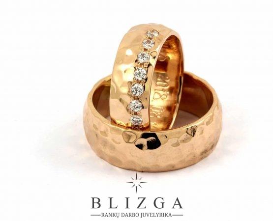 Modernaus stiliaus vestuviniai žiedai Imāgo